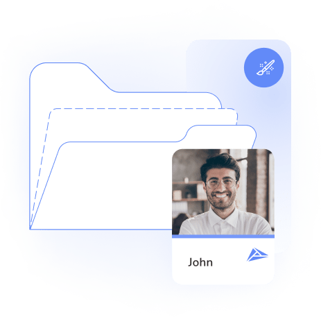 Business card design templates available with HiHello Professional