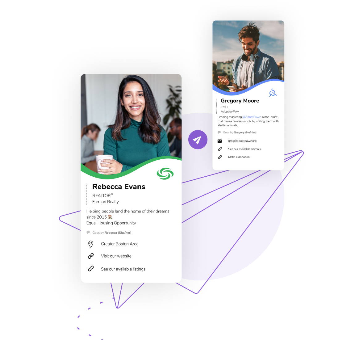 Share your HiHello digital business card