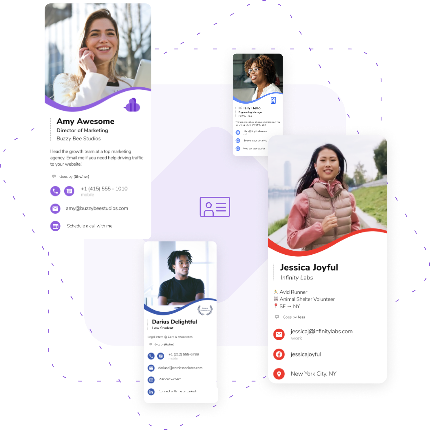 HiHello customizable digital business cards