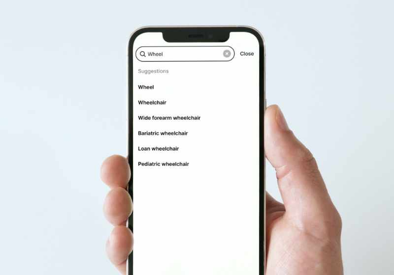 Spotto simple asset search displaying search suggestions