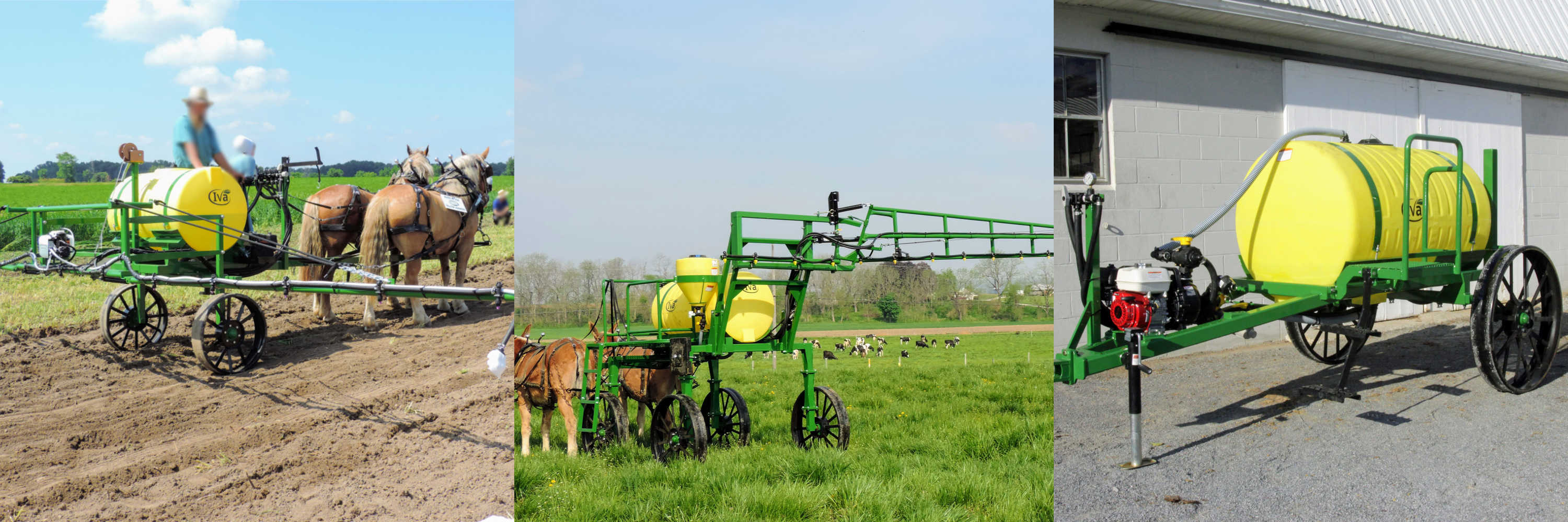 horse-drawn sprayer for the horse farmer from Iva Mfg