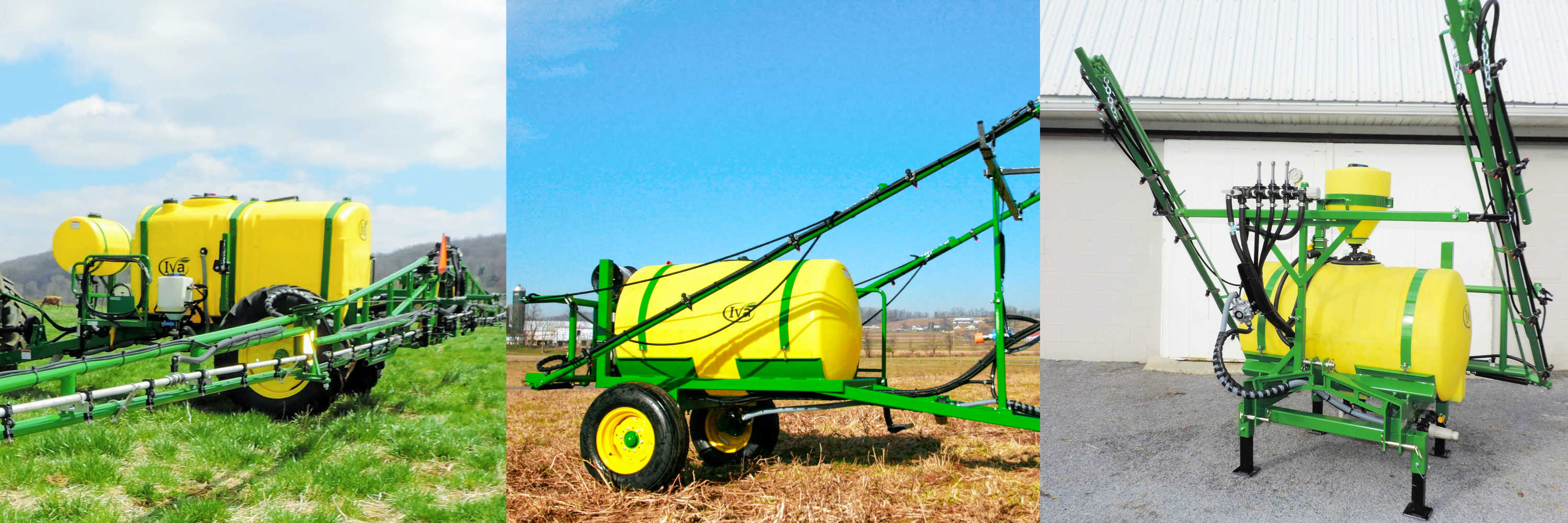 Iva Sprayers, 3-point hitch and trailer crop sprayers