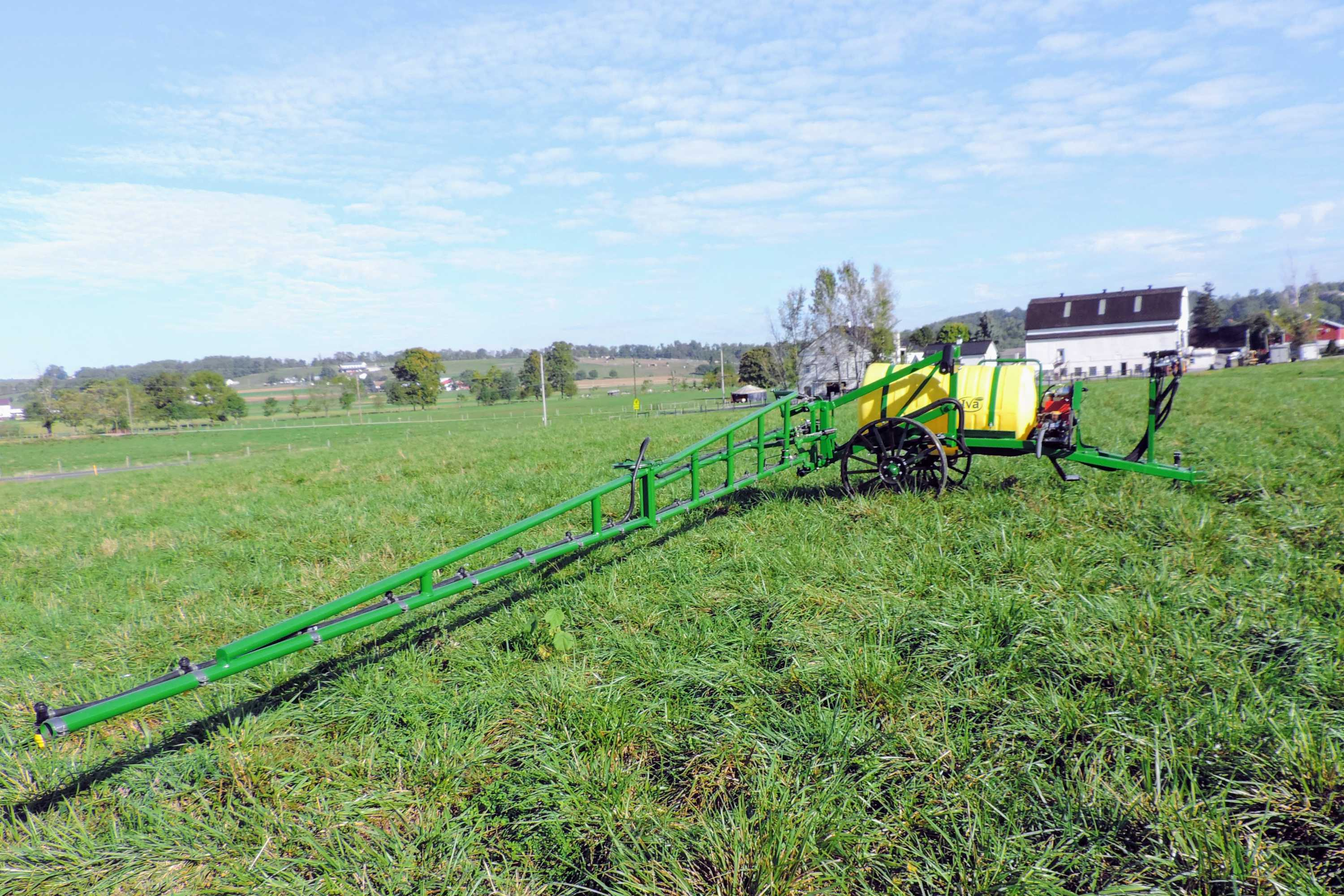 200 gallon trailer sprayer with 25' single sided boom