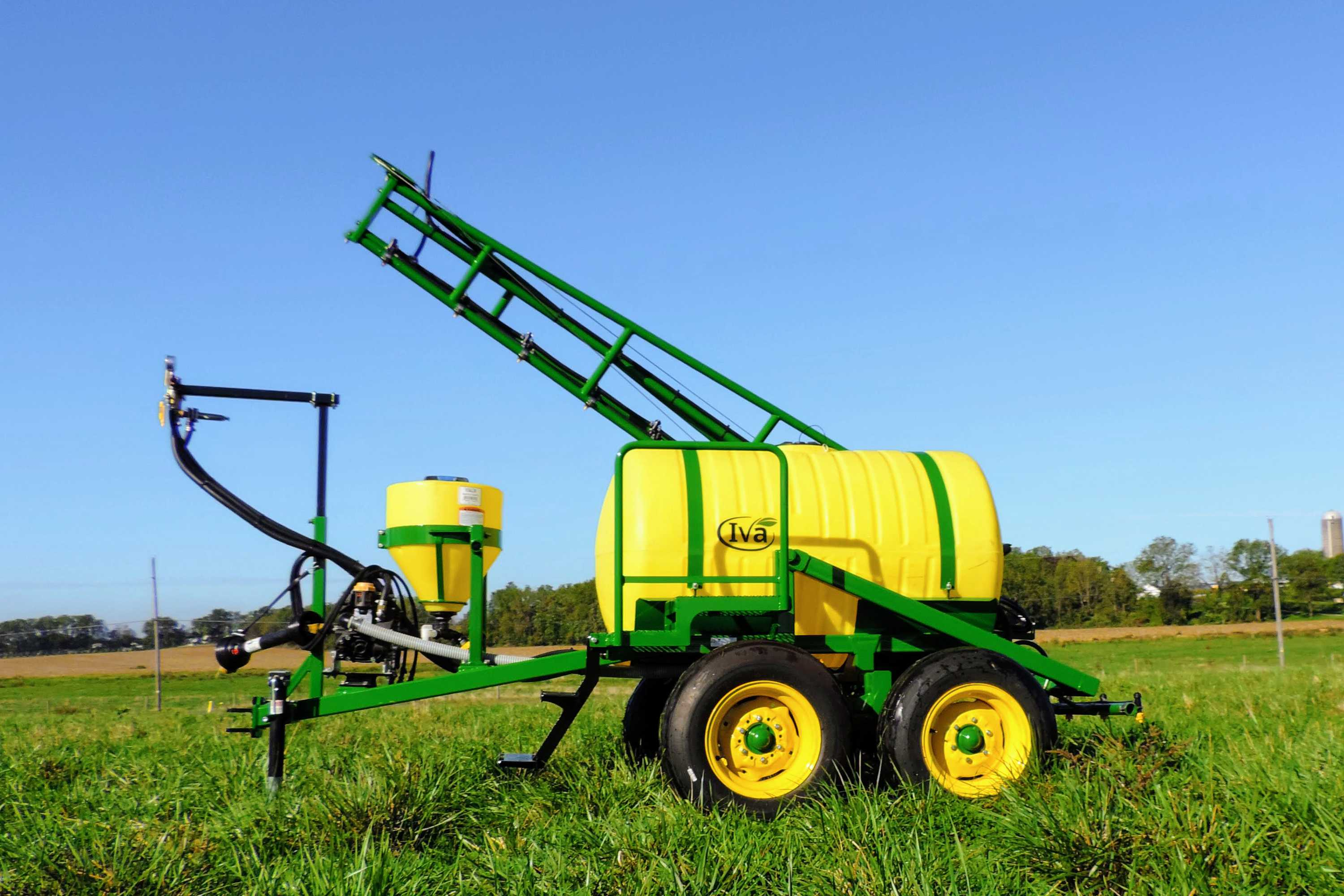 300 gallon trailer produce sprayer with 25' single sided boom and tandem axle