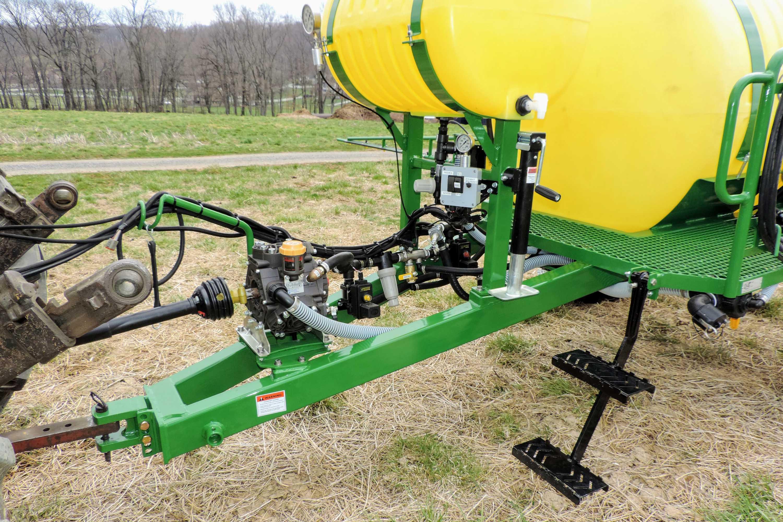 500 gallon trailer produce sprayer with diaphragm pump