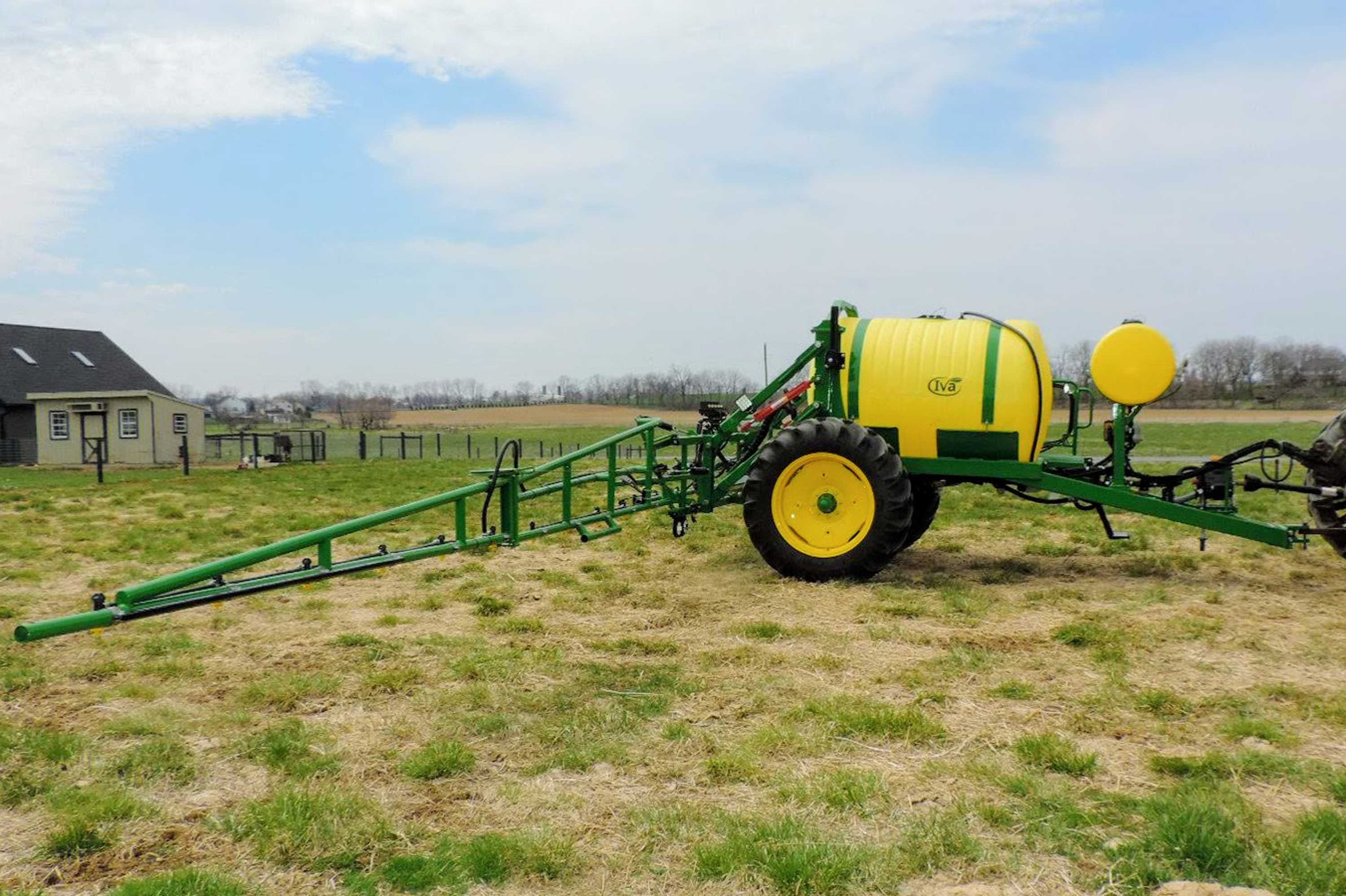 500 gallon trailer vegetable sprayer with 45' boom