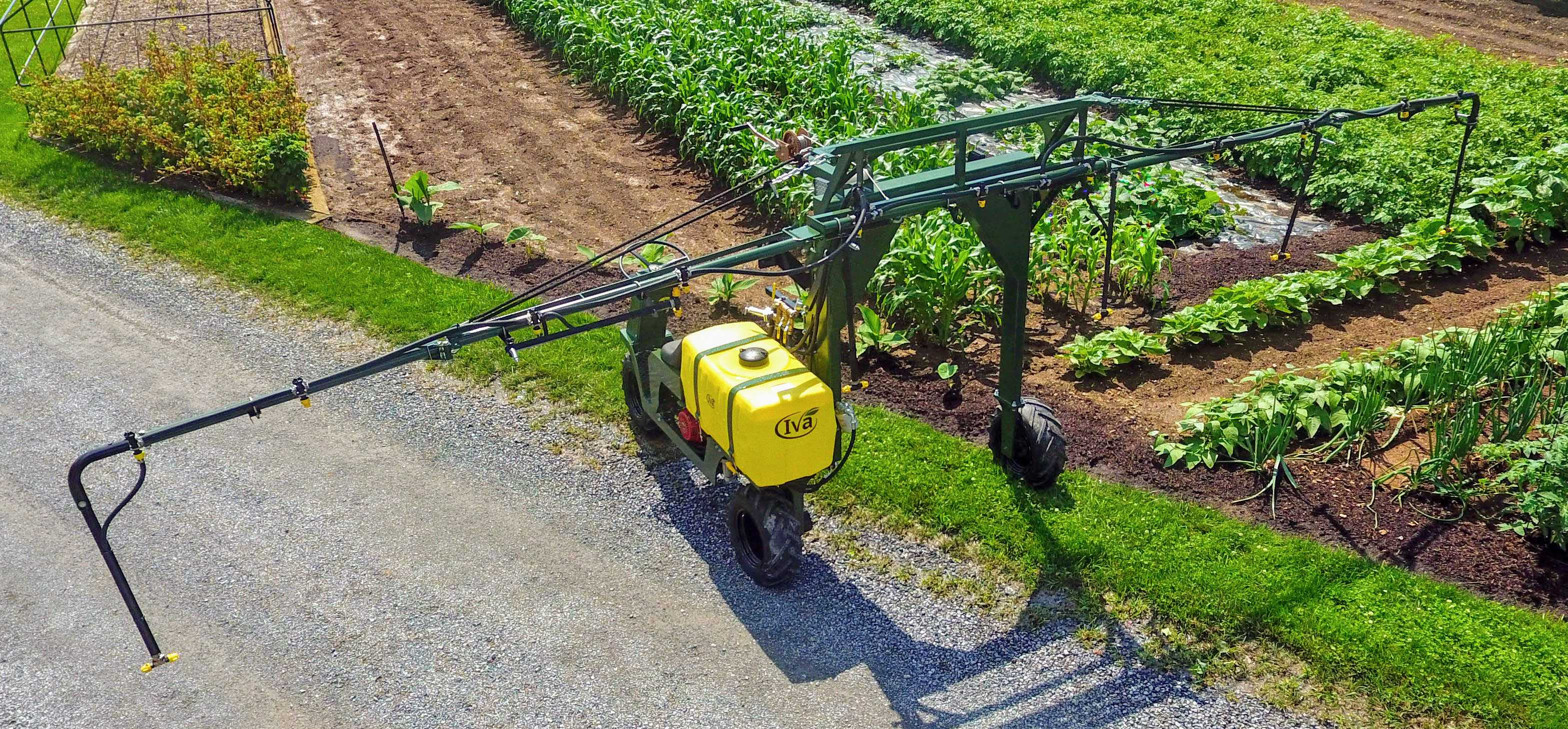 booms up to 30' wide on SP50 Self Propelled sprayer
