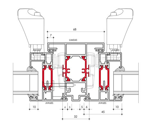 58BW Flush Window CAD