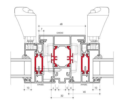 58BW Flush Window CAD