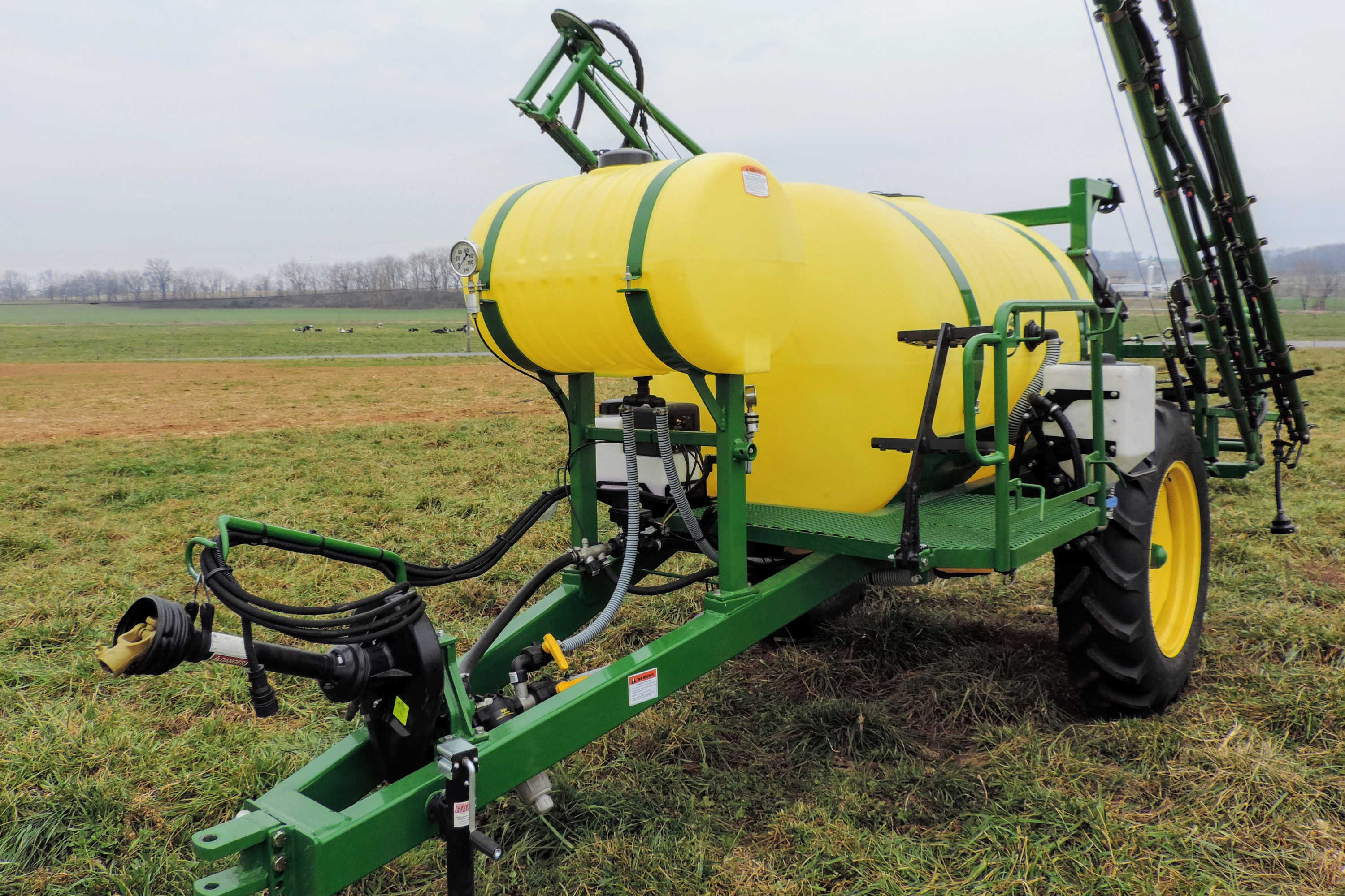 500 gallon Trailer Field Sprayer with 45' SpringRide Booms