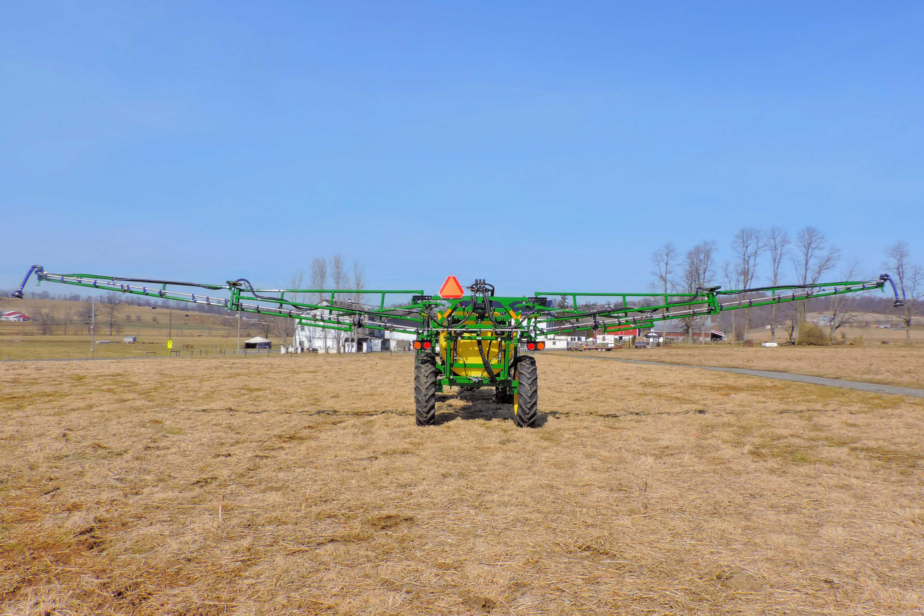 rear view of 500 gallon Field Sprayer with 60' AirRide Booms