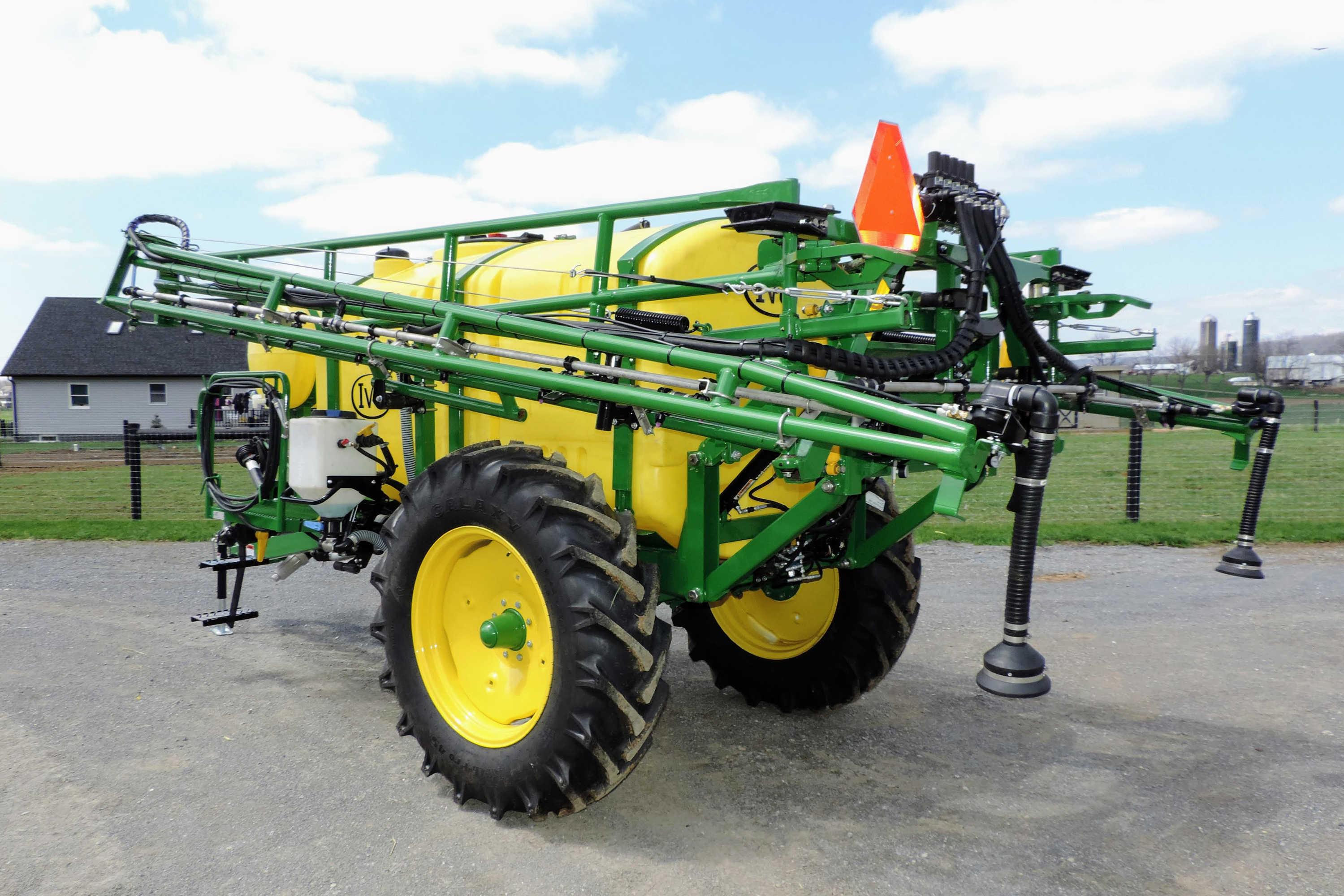 750 gallon Trailer Field Sprayer with 60' AirRide Booms
