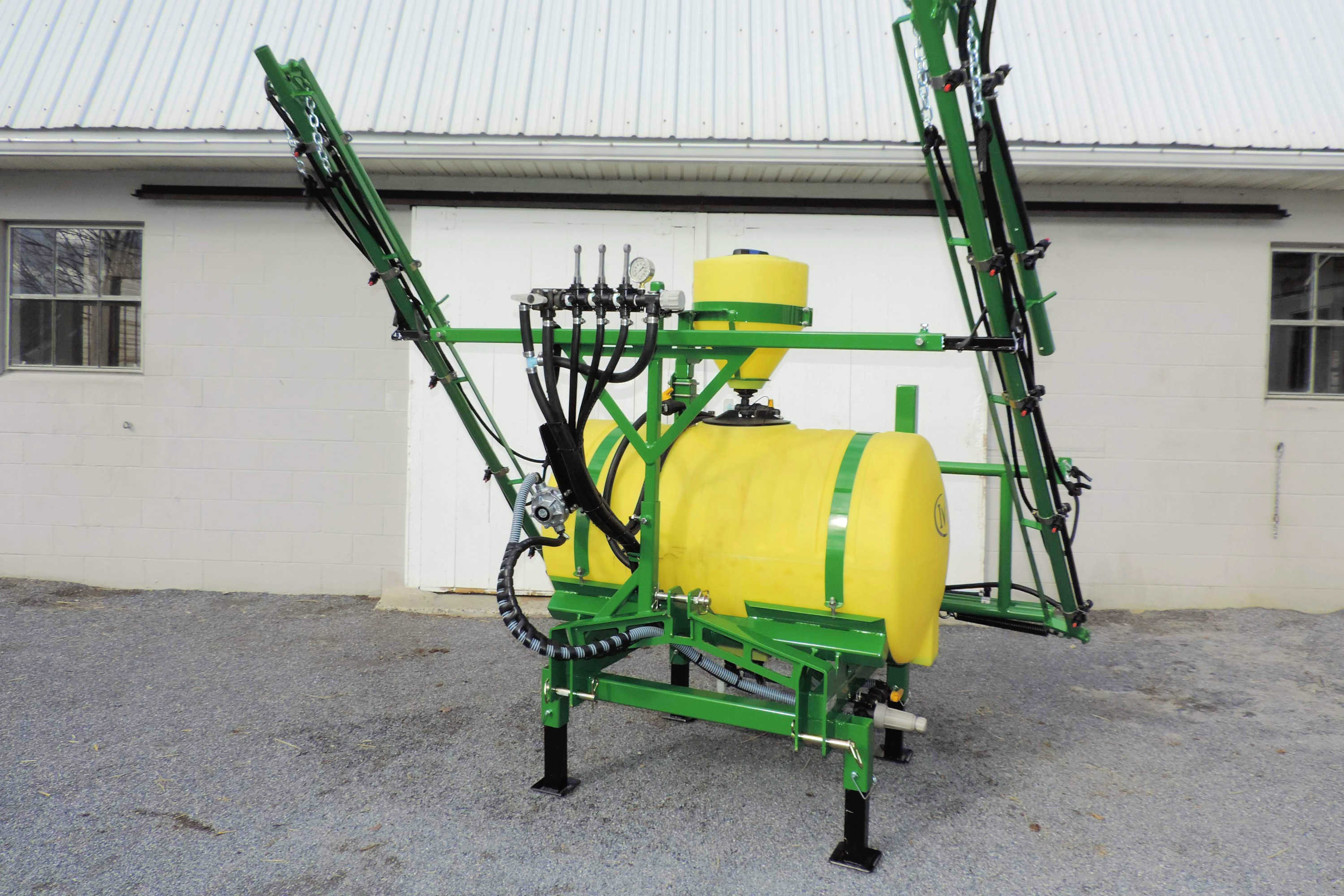 150 gallon 3-point Hitch Crop Sprayer with 30' manual-fold booms