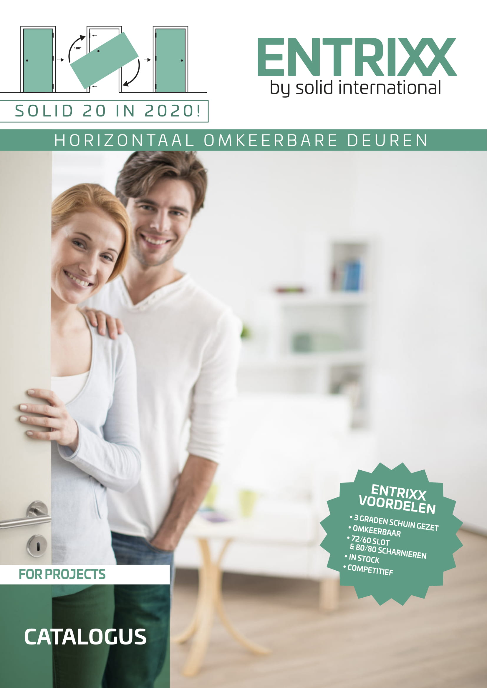 Binnendeuren horizontaal omkeerbaar professioneel foto brochure