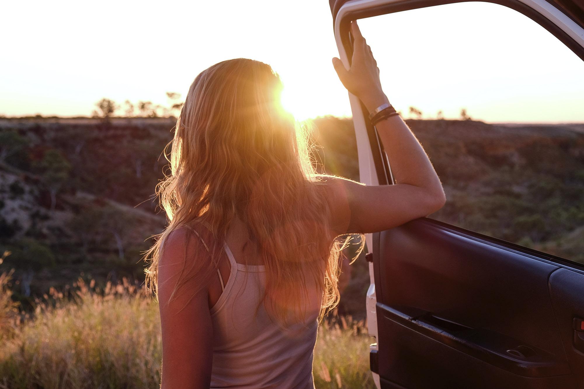 Sonnenuntergang Campervan