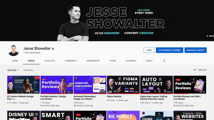 Jesse Showalter YouTube Channel
