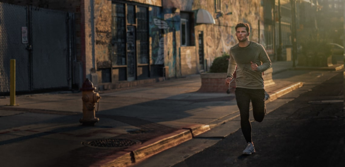 This Jaybird commercial features individuals running through different terrains such as mountainside and through city streets while wearing their Jaybird ear buds.