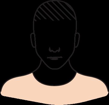 personnage chute de cheveux perte de densité
