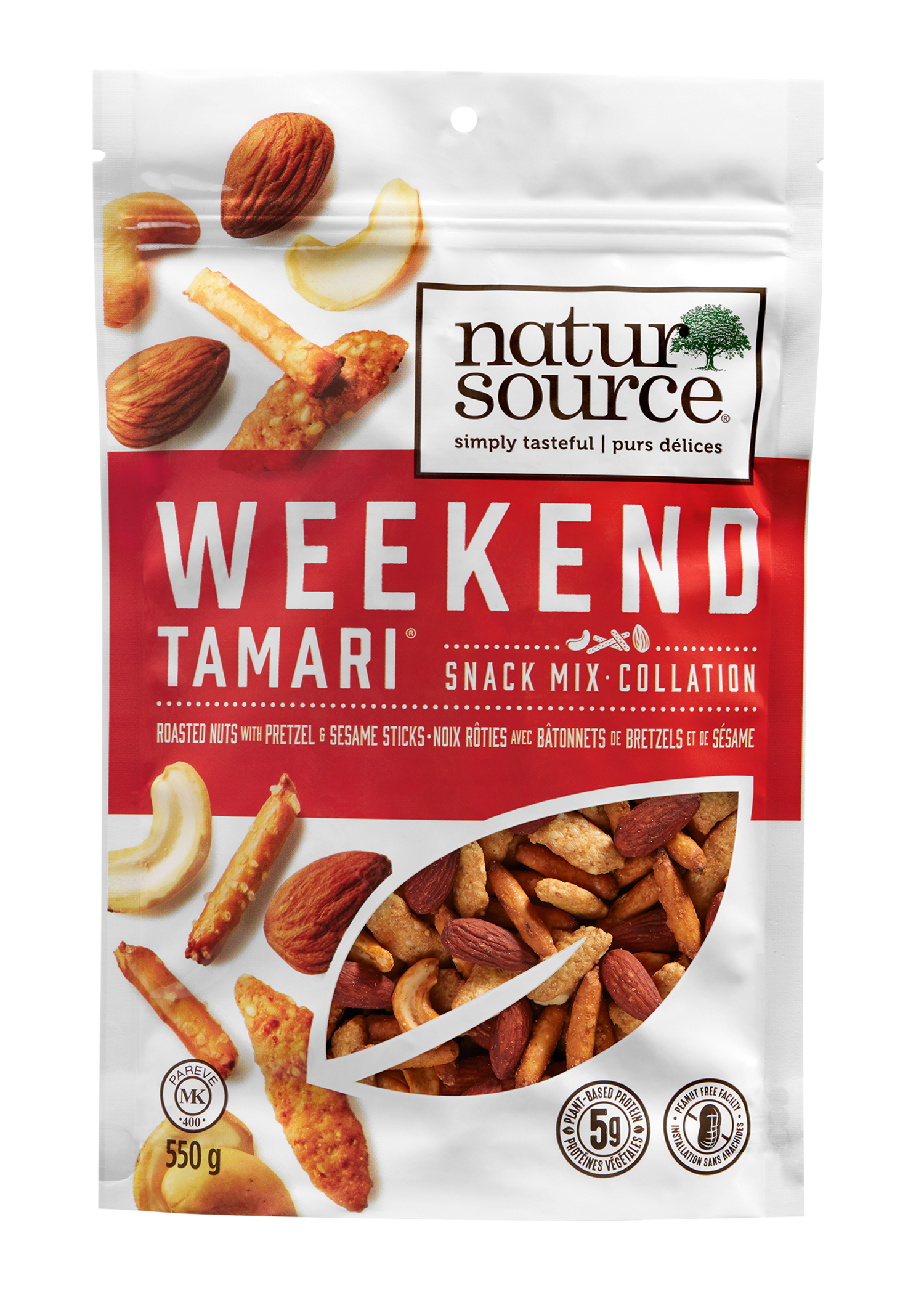 natursource Weekend Tamari® snack mix with roasted nuts, pretzel and sesame sticks
