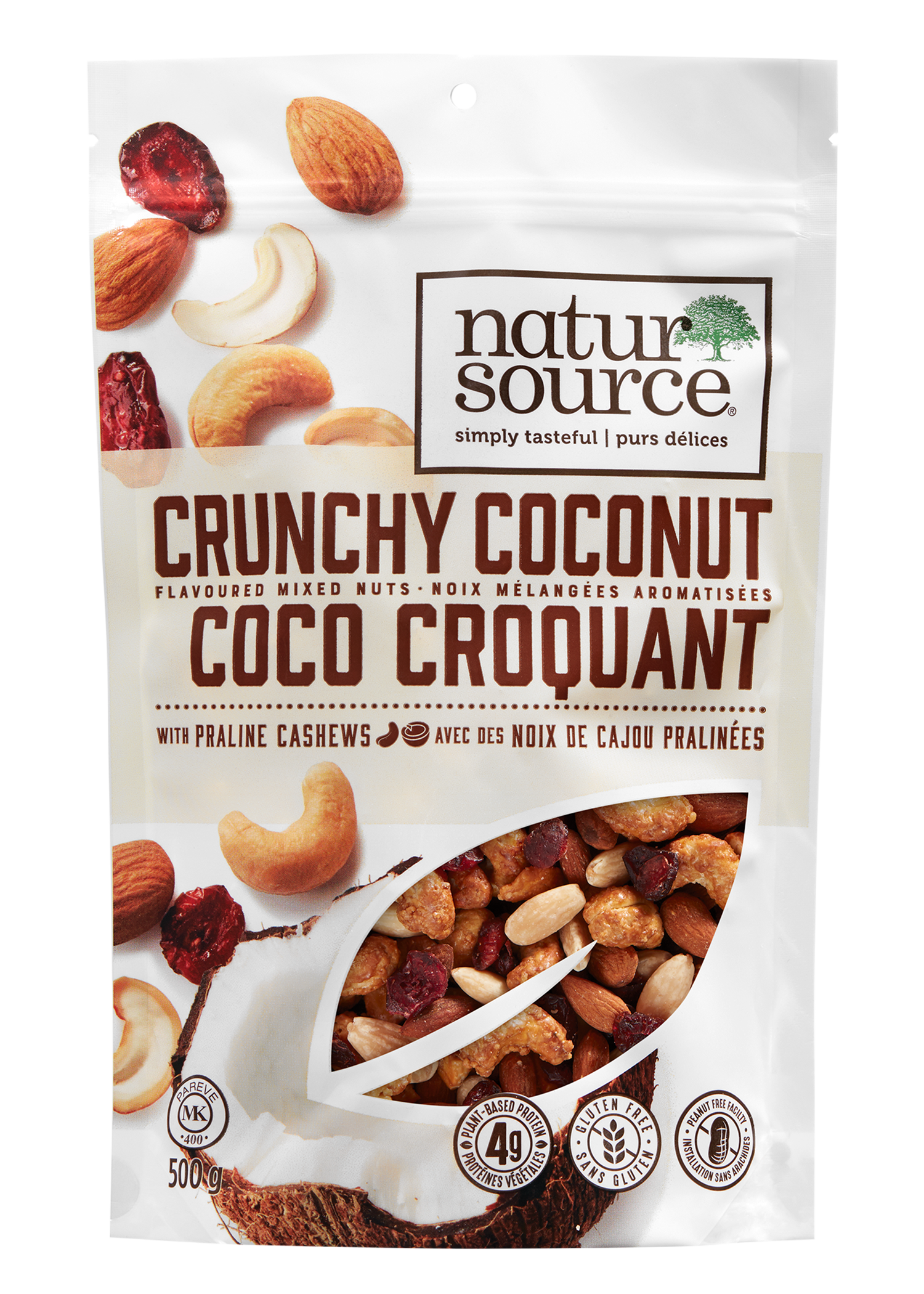 natursource Crunchy Coconut Flavoured mixed Nuts with praline Cashews