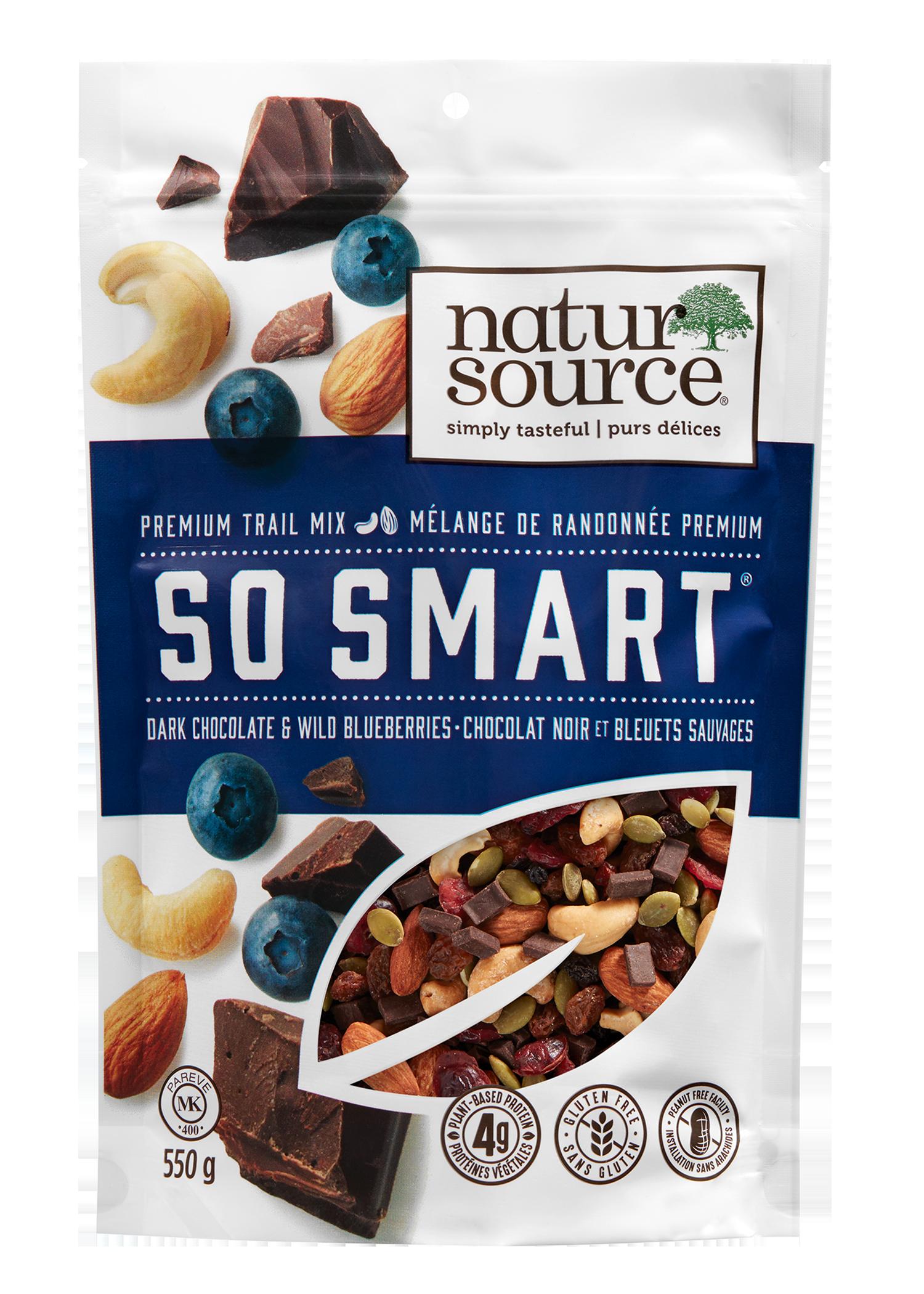 natursource So Smart® Premium trail mix with dark chocolate and wild blueberries