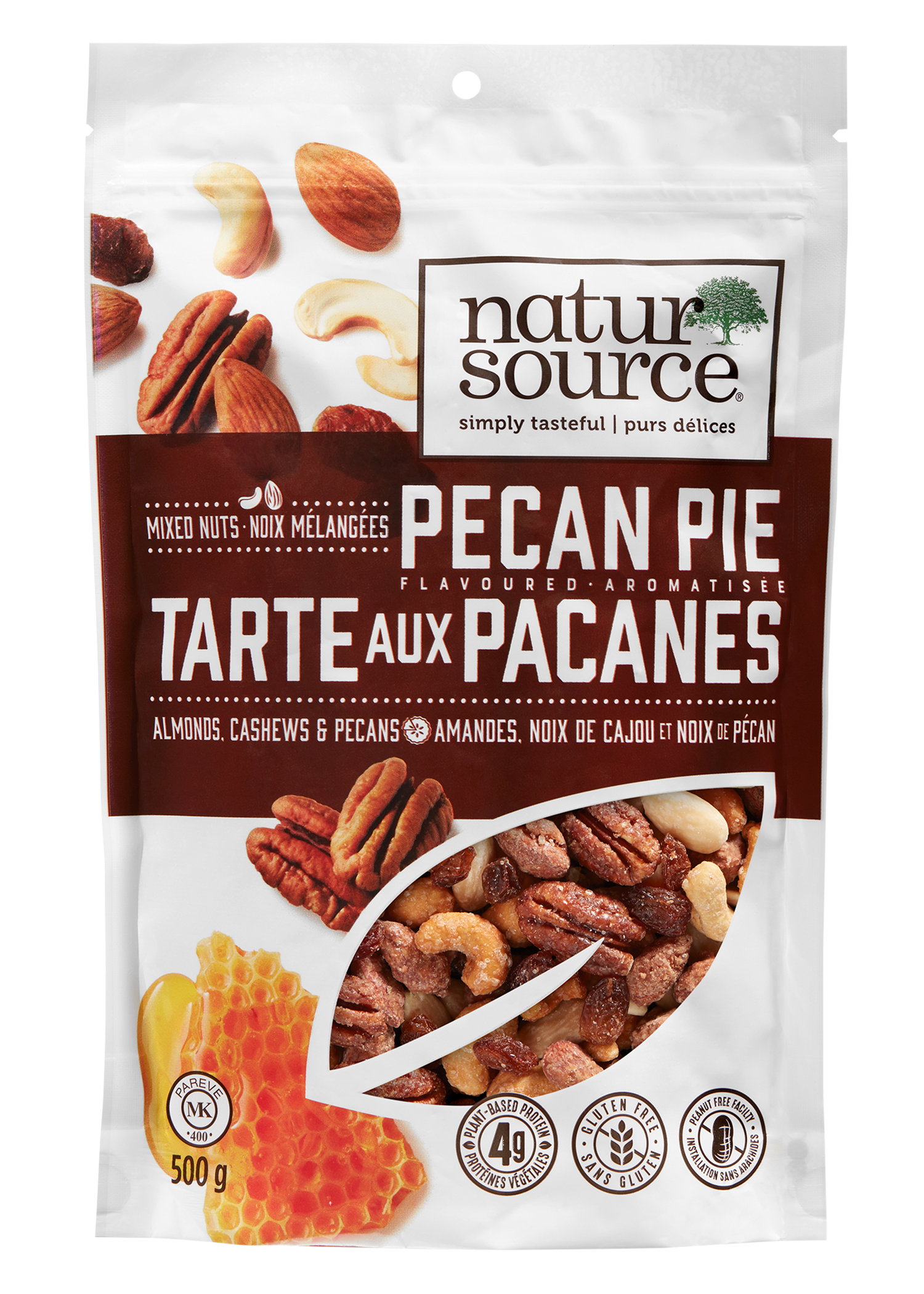 natursource Pecan Pie flavoured nut mix with almonds, cashews and pecans