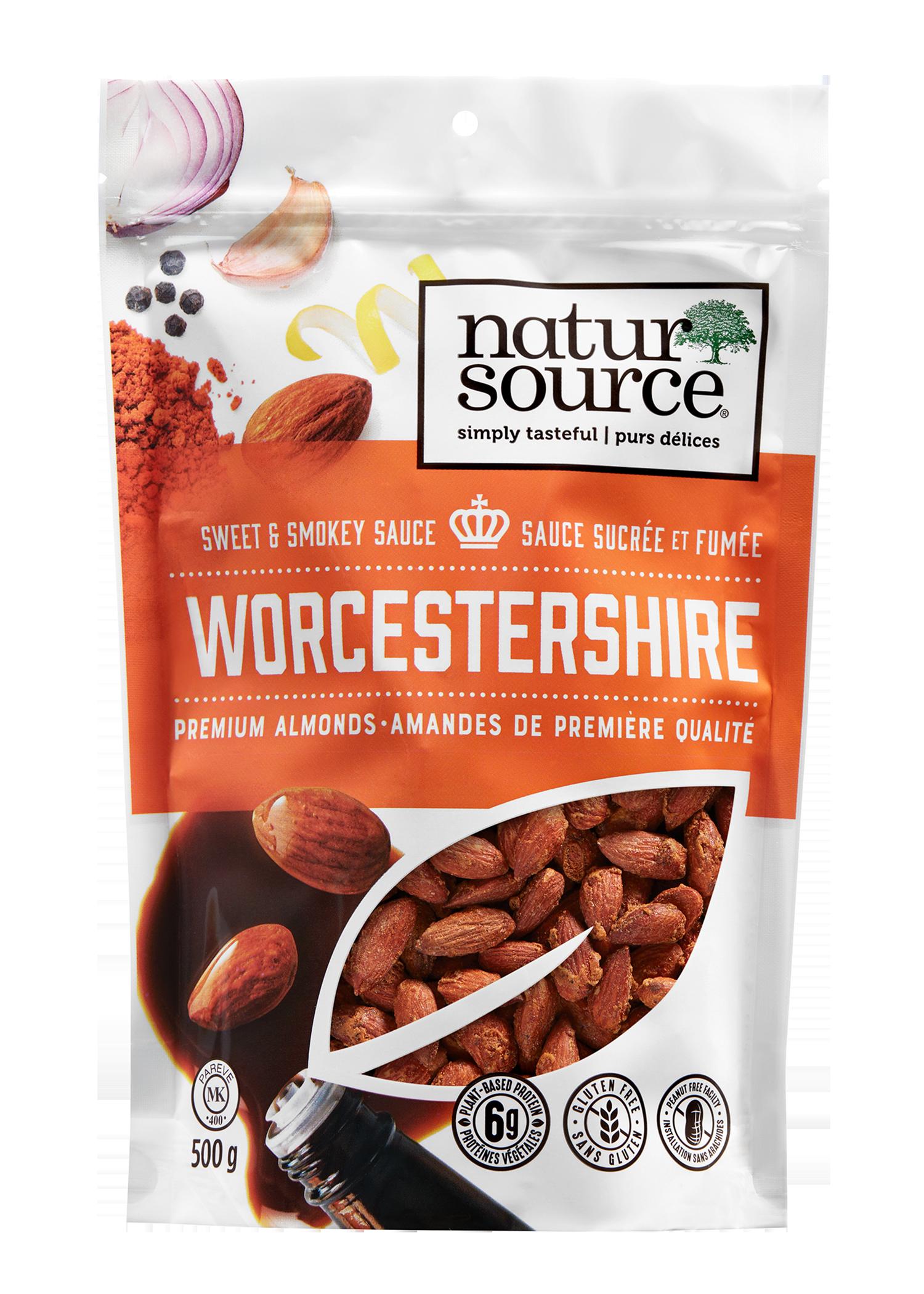 natursource sweet and smokey Worcestershire premium Almonds