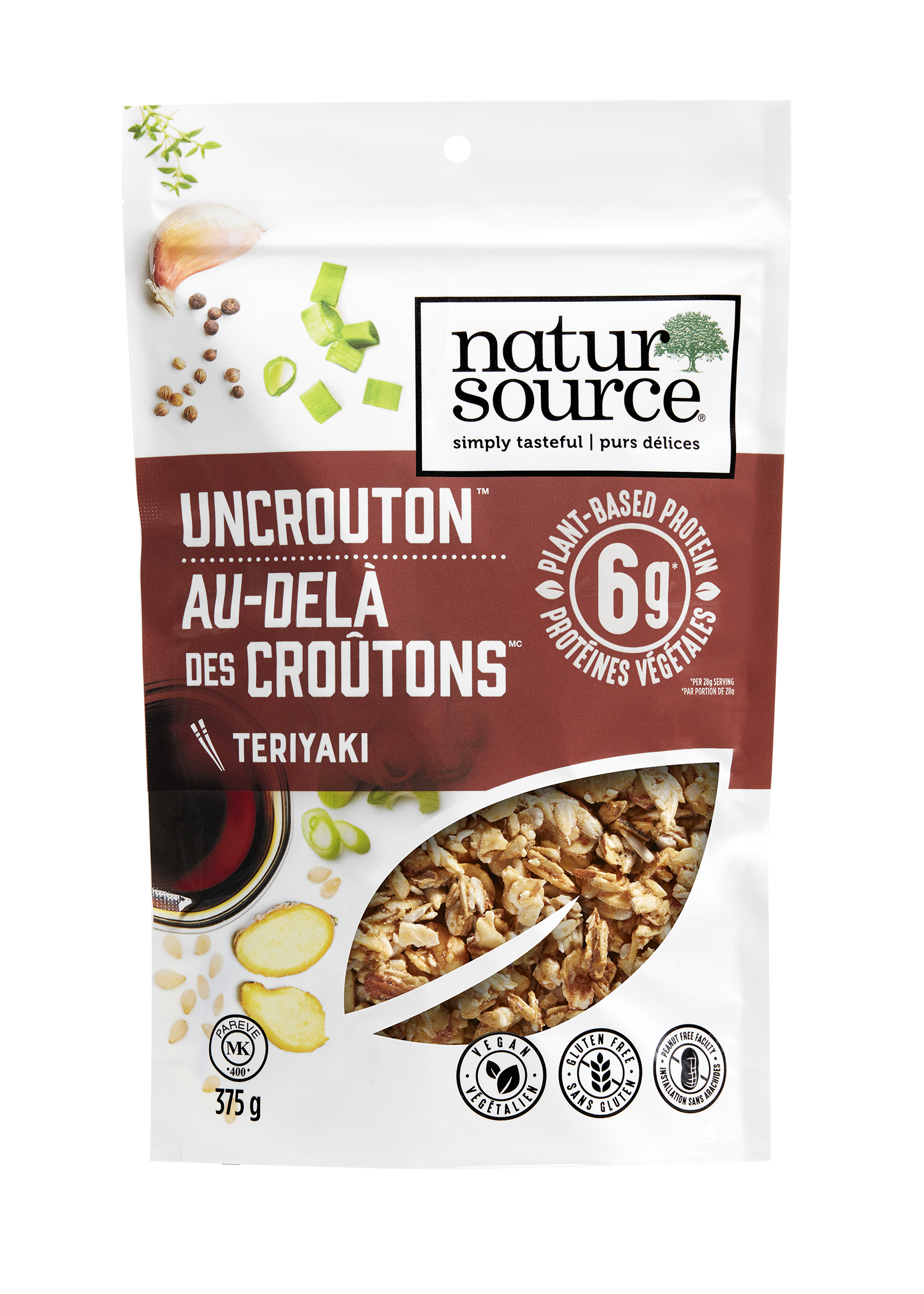 natursource vegan-friendly Teriyaki Uncrouton™ with plant-based protein