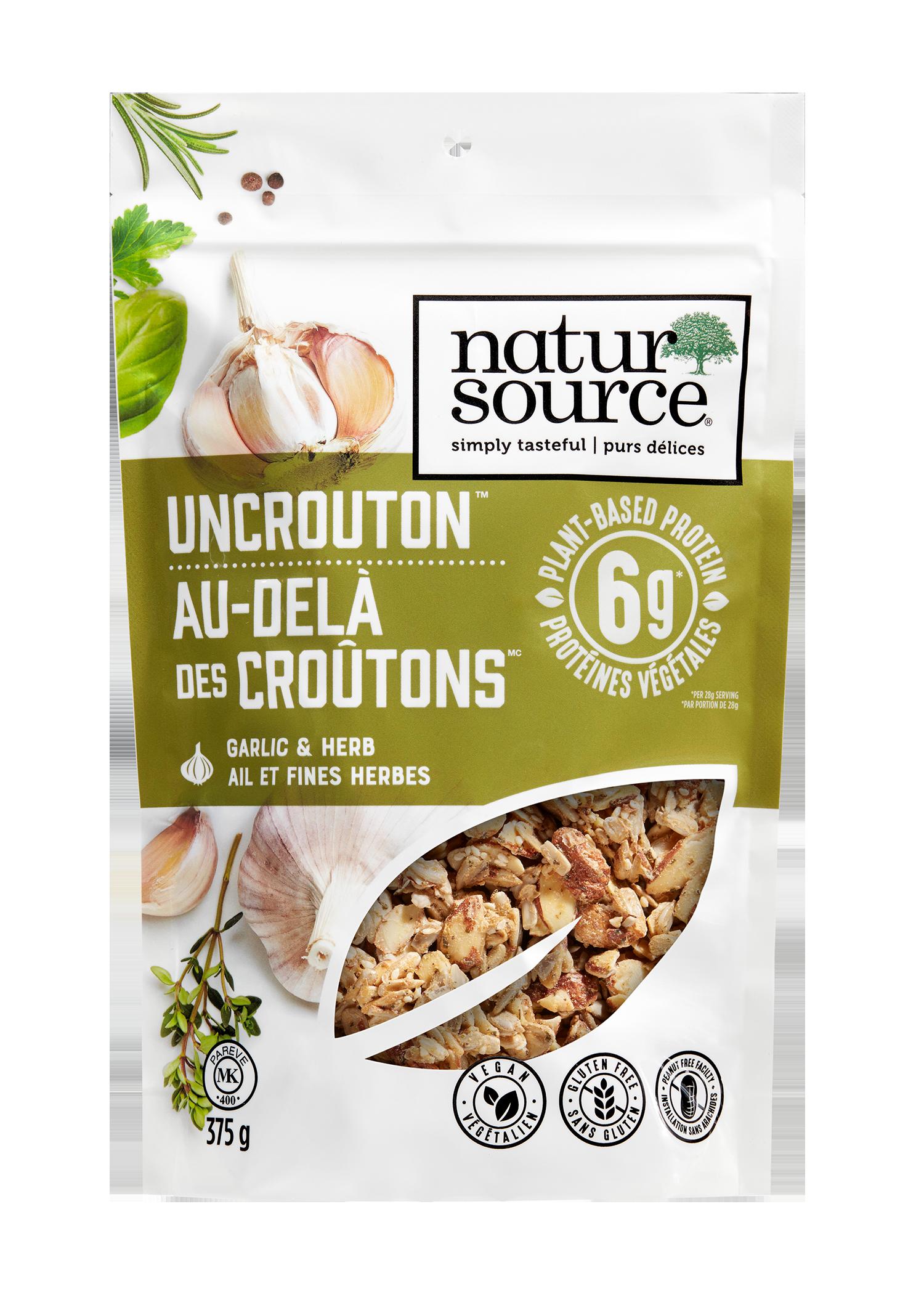 natursource vegan-friendly Garlic & Herb Uncrouton™