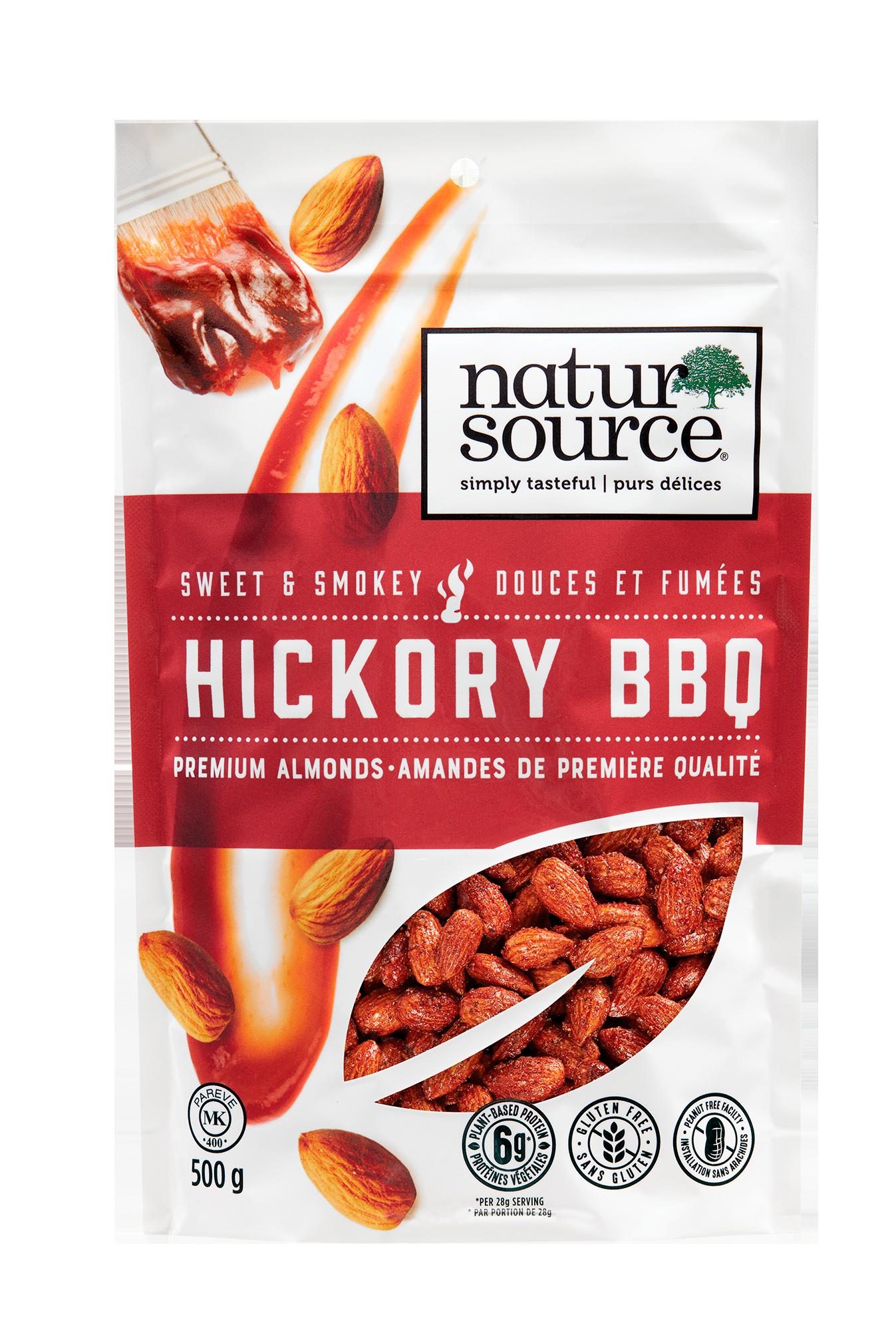 natursource sweet and smokey Hickory Barbecue premium almonds