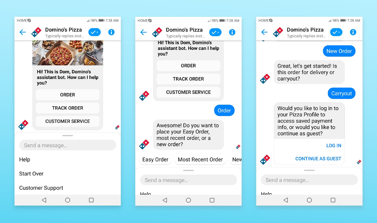 Domino's Pizza's Chatbot