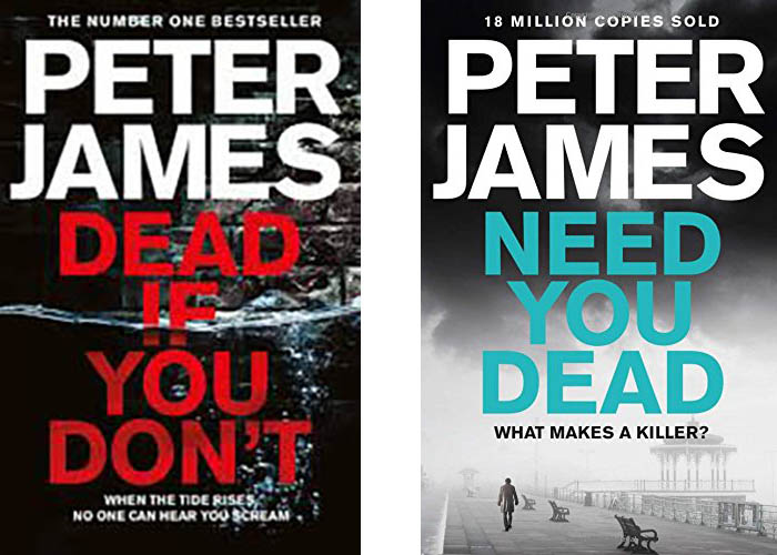 Image shows covers of books by Peter James