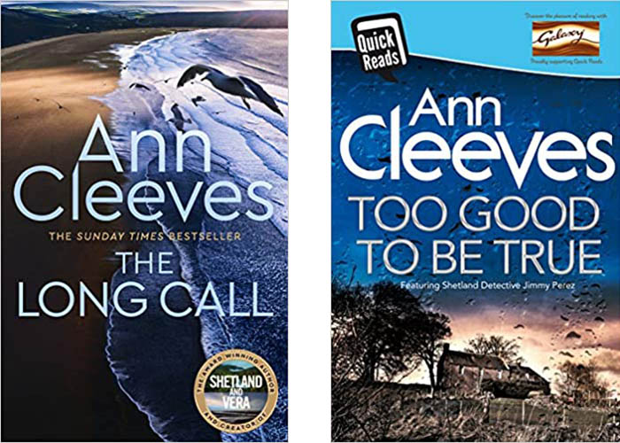 Image Shows book covers by Ann Cleeves