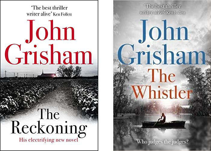 Image shows covers of books by John Grisham