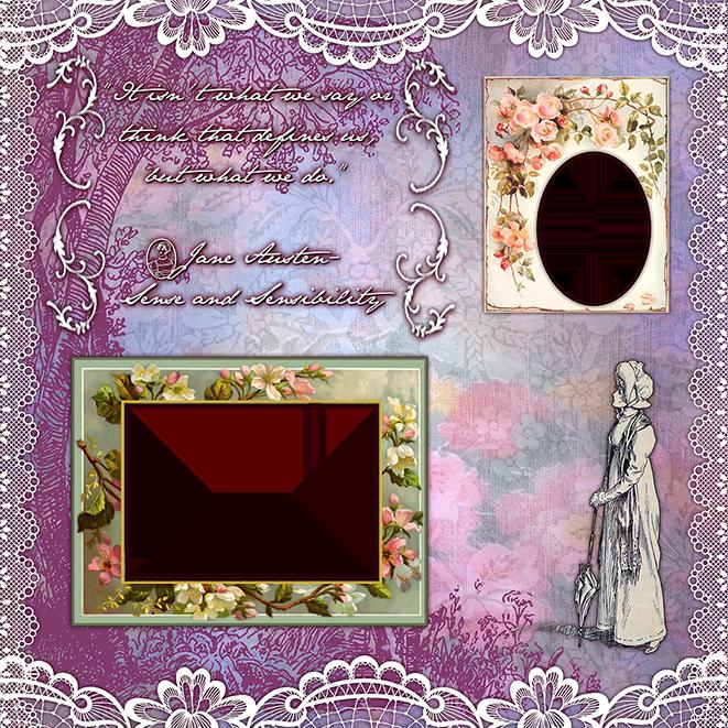 A Jane Austen postcard