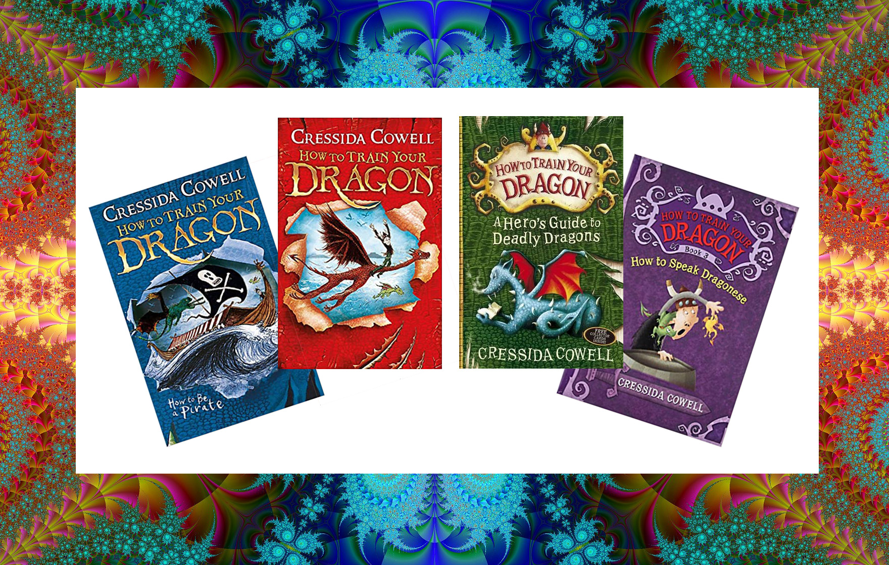 Image shows How to Train Your Dragon - book covers