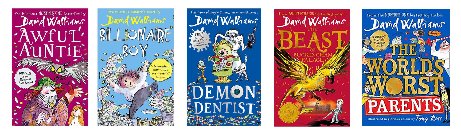 Image shows covers from David Walliam's books