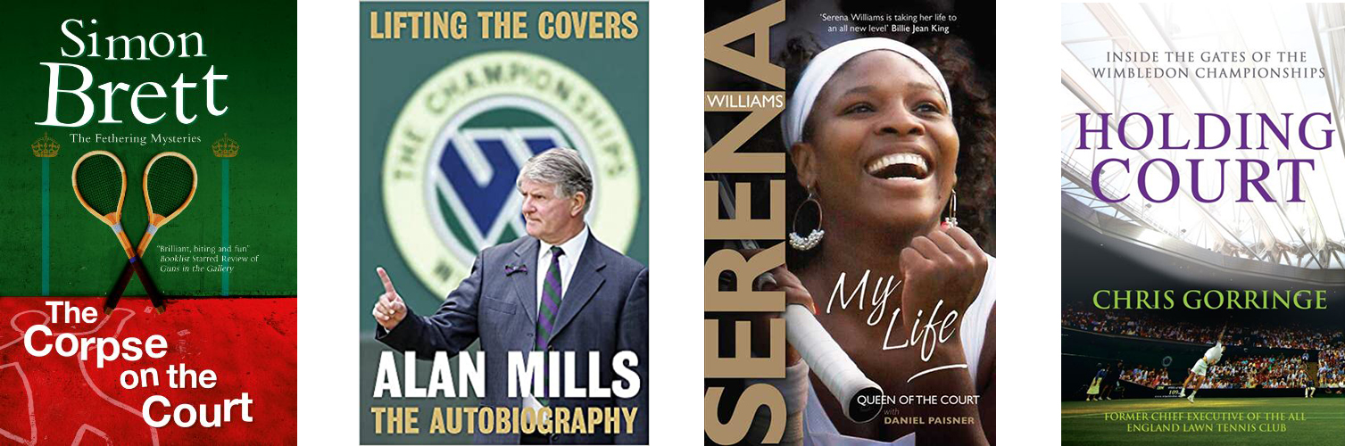 Image shows covers of books on Tennis