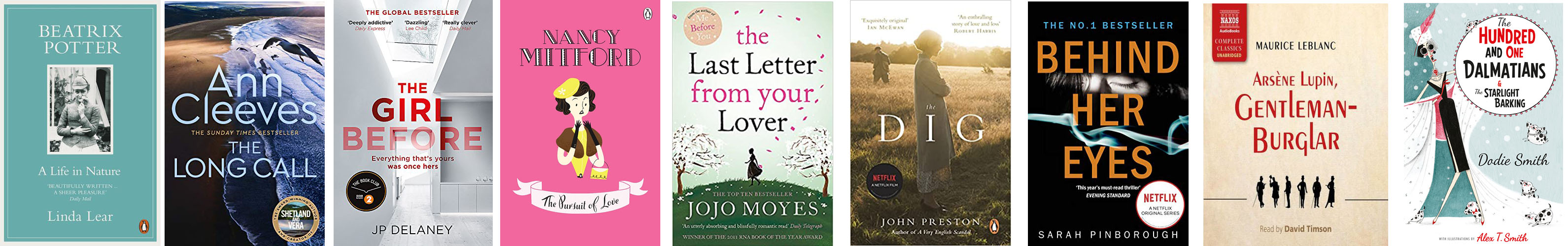 Image shows a selection of book covers