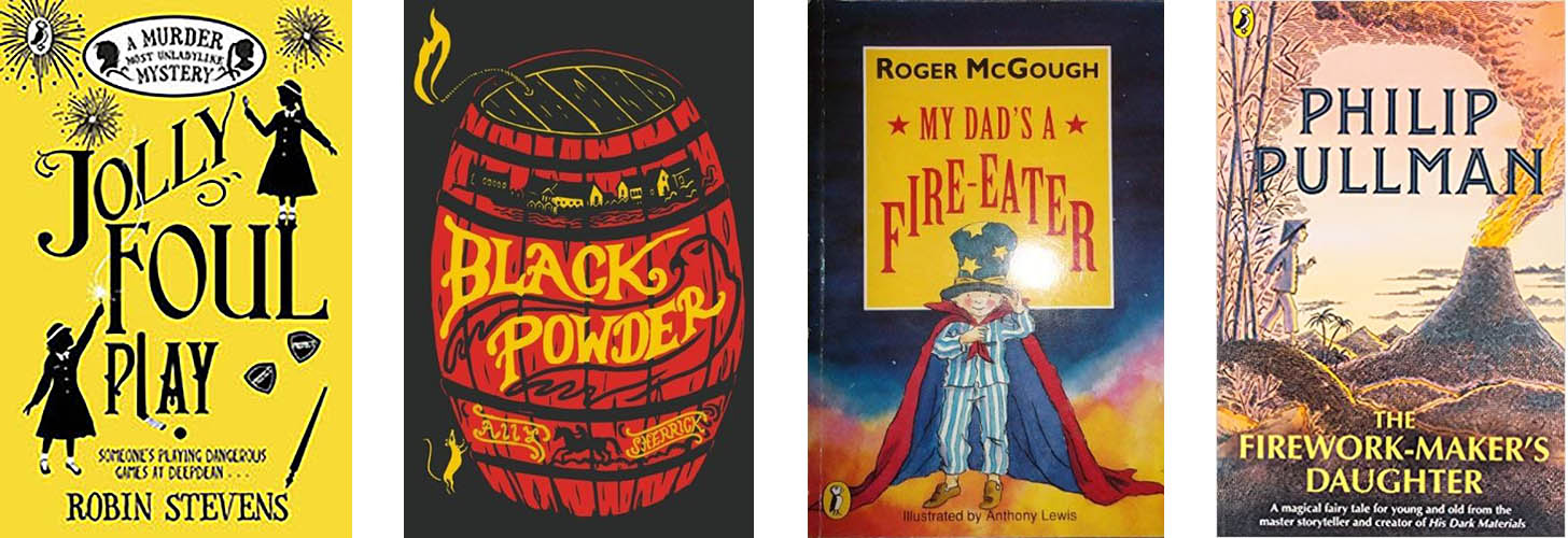 Covers of the books featured for Bonfire night