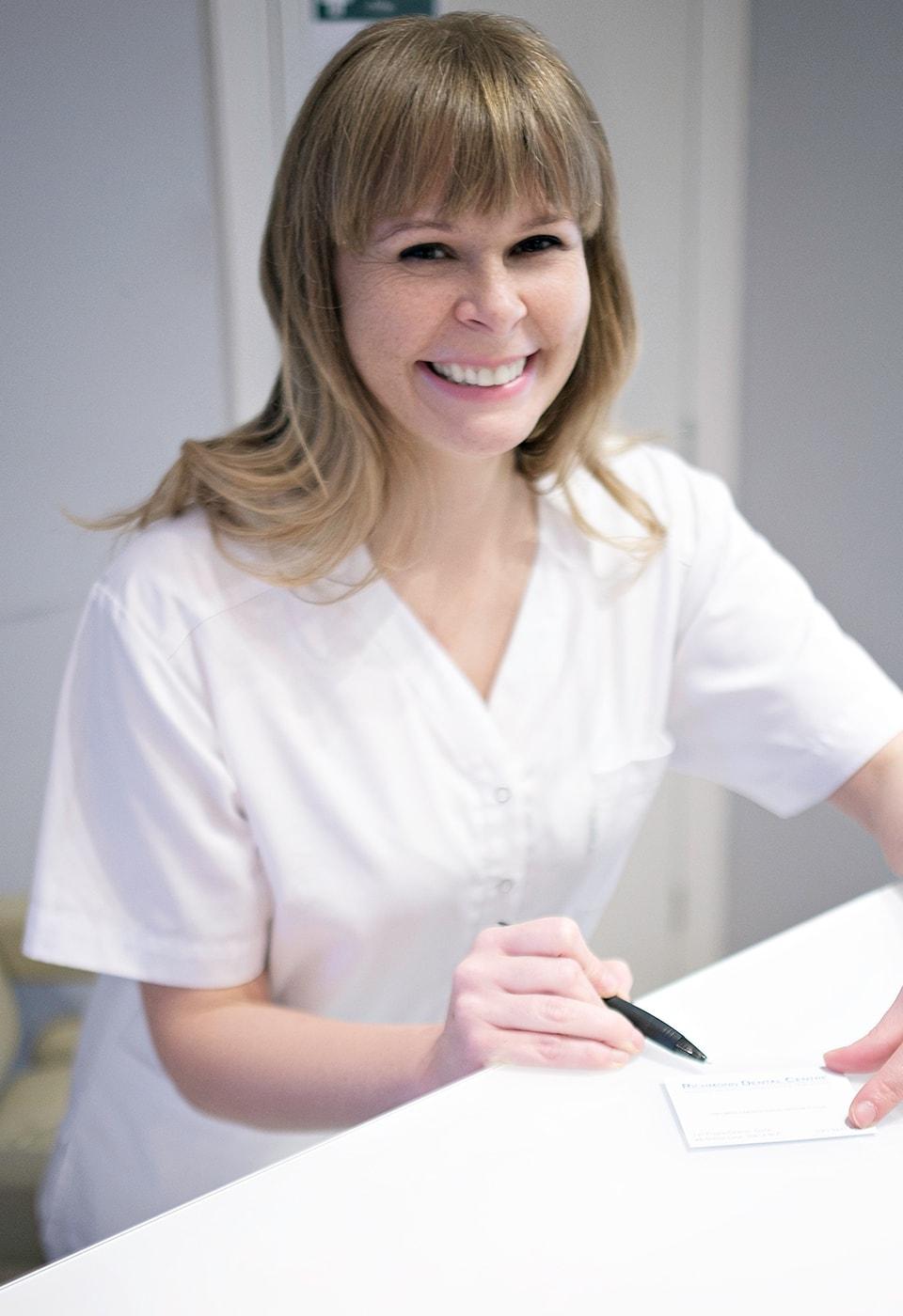 Promotorka zdrowego uśmiechu