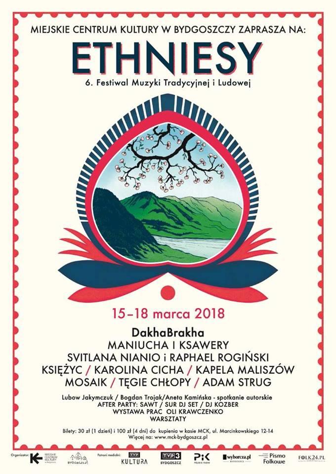 6. Międzynarodowy Festiwal Muzyki Tradycyjnej i Ludowej ETHNIESY 2018