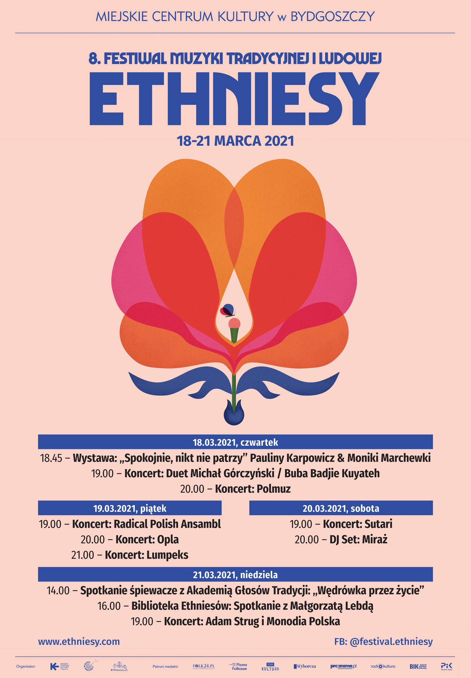 8. Międzynarodowy Festiwal Muzyki Tradycyjnej i Ludowej ETHNIESY 2021