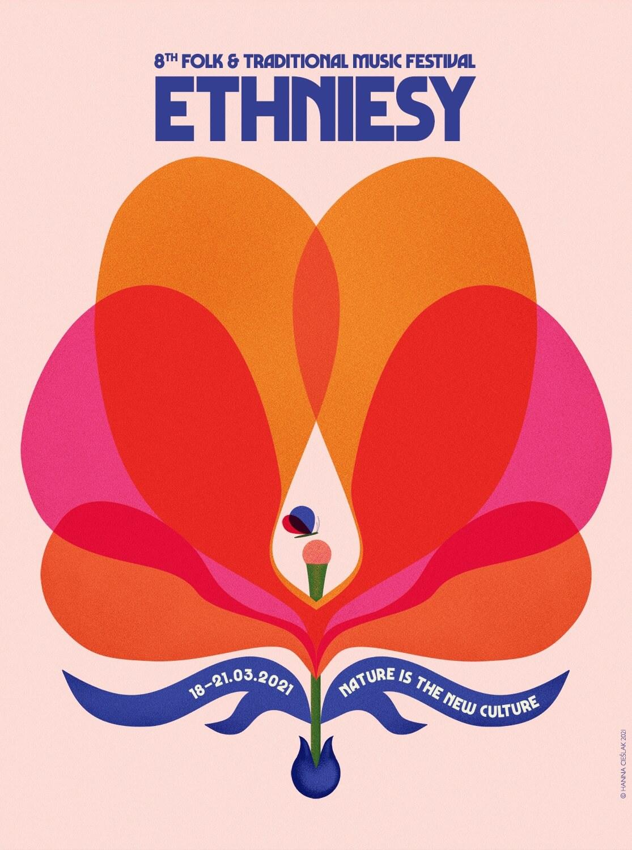 Plakat tegorocznej edycji festiwalu ETHNIESY