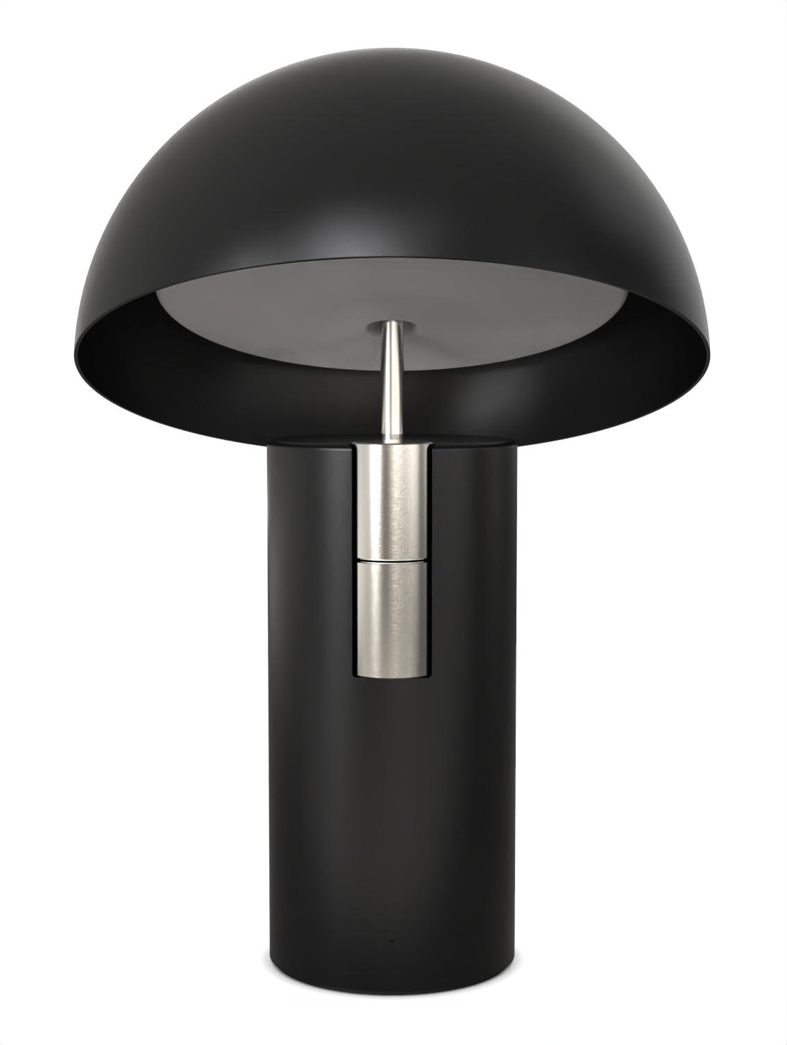 Alto Luminaire Acoustique Lampe Enceinte Jaune Fabrique Noir Nickel