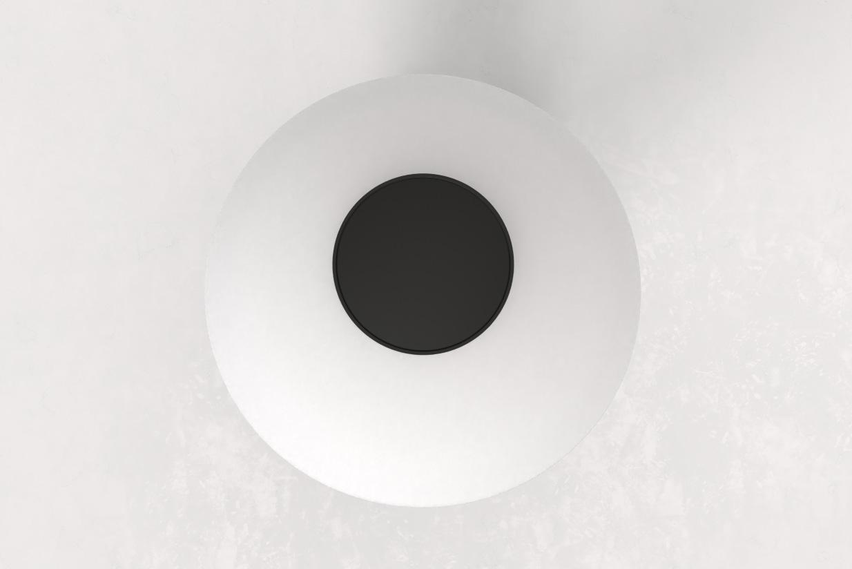 Piccolo Abat-Jour verre soufflé opale