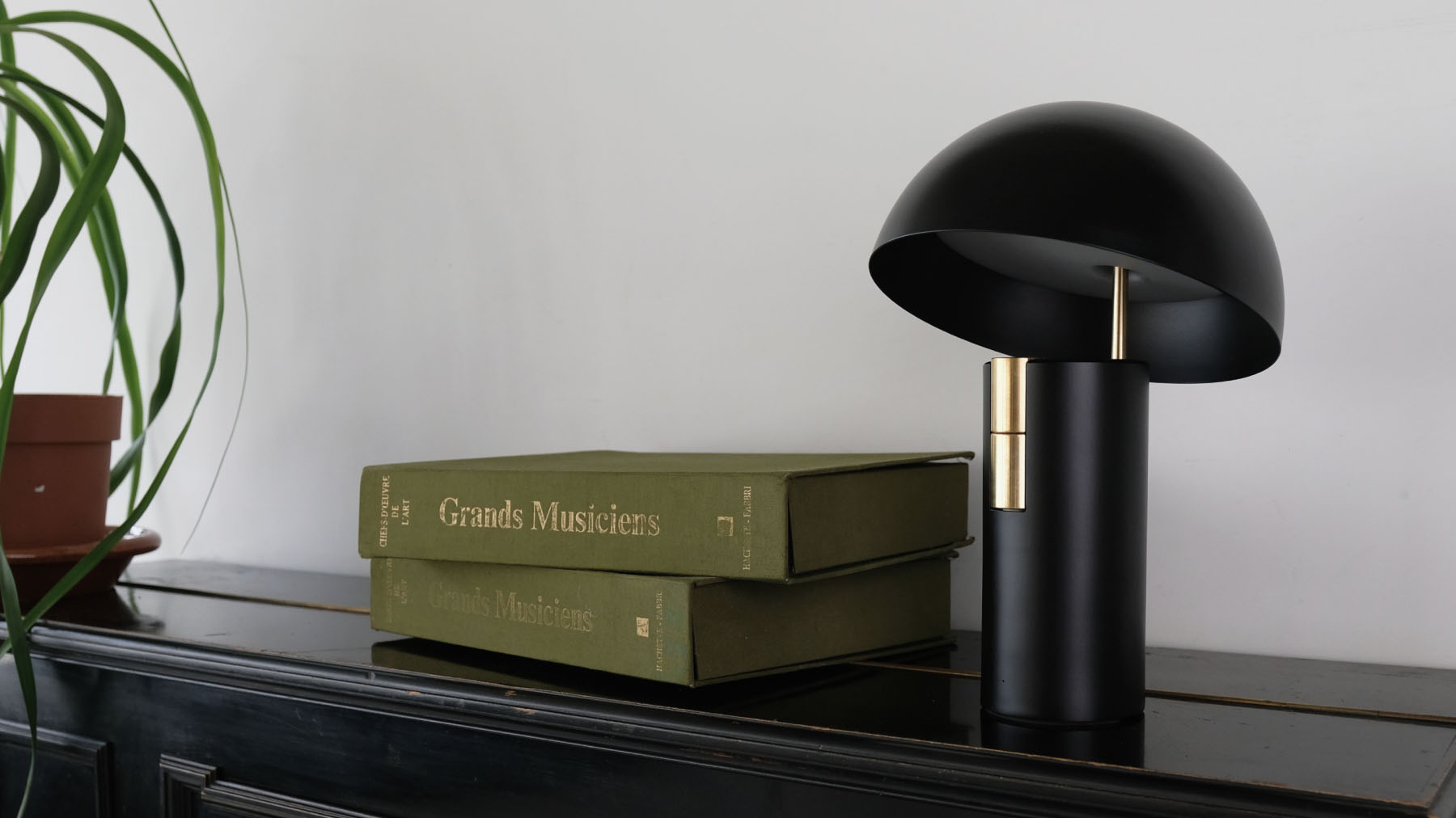 Jaune Fabrique - Luminaire acoustique Alto - Noir