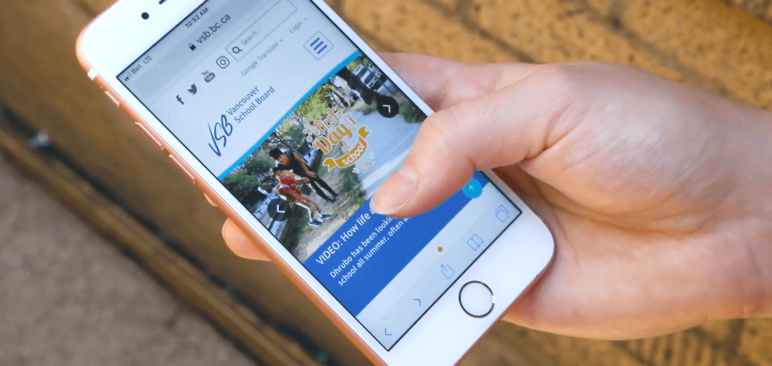 VSB News on mobile device