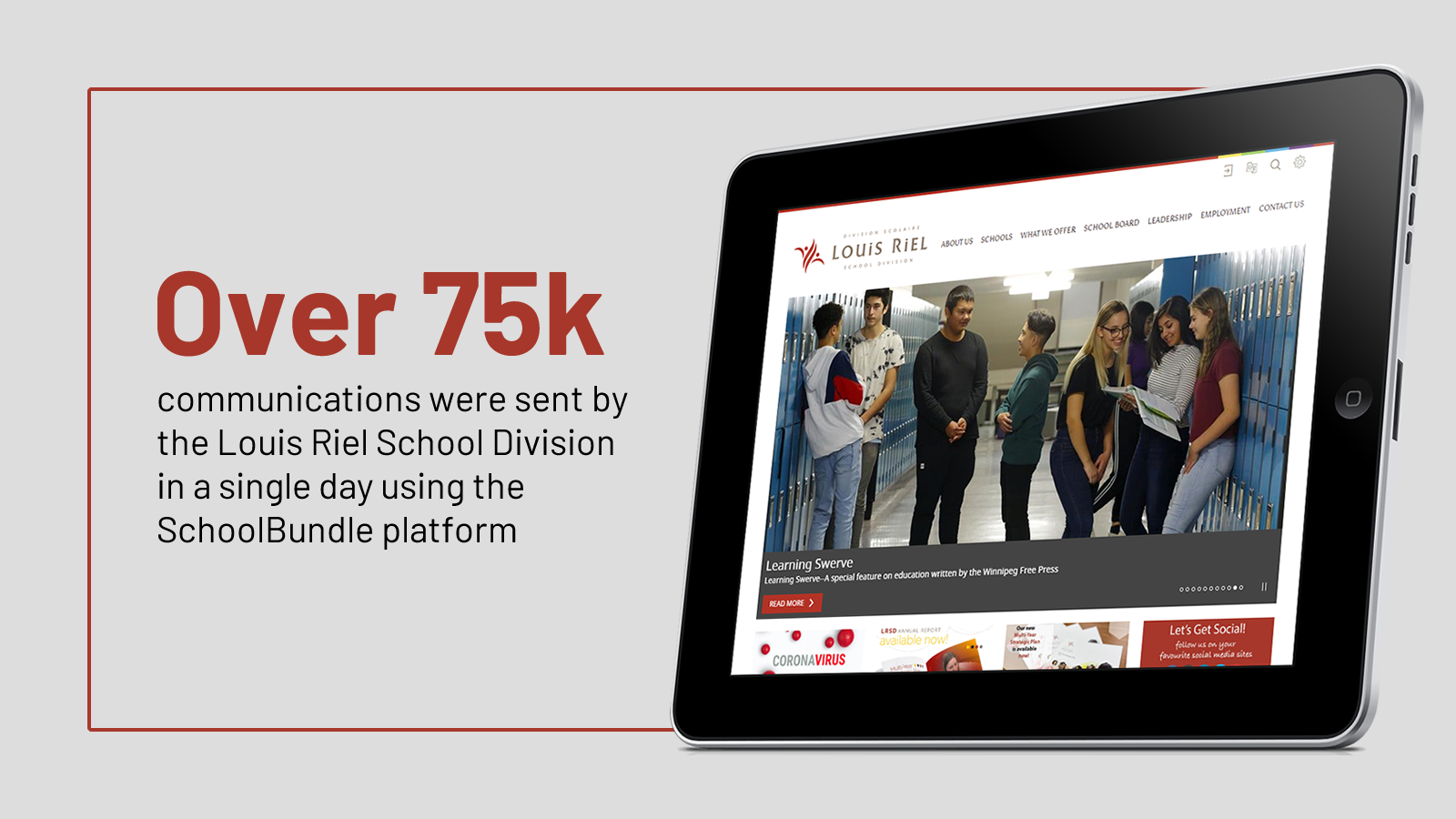Over 75k communications were sent by the LRSD in a single day using the SchoolBundle platform