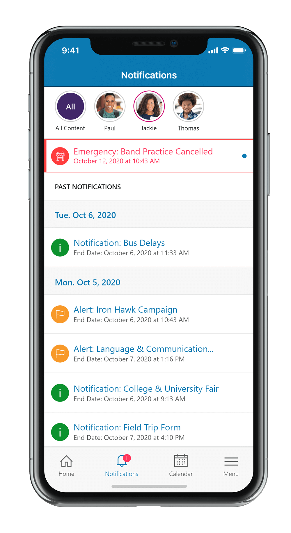 SchoolBundle App - Notifications